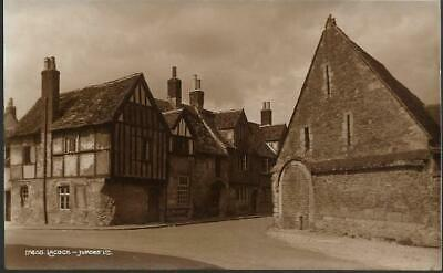 Lacock, Wiltshire - view of village - nice Judges postcard c.1930s