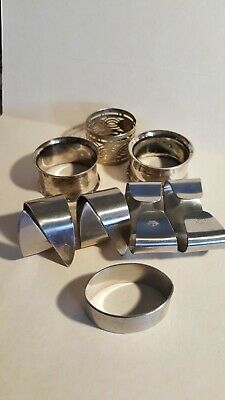 A Small Collection Of Napkin Rings Including Wmf Cromargan