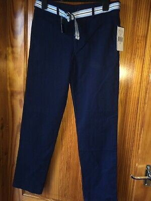 Ralph Lauren Age 14 Years Chino Trousers New Tags Navy Blue & Belt