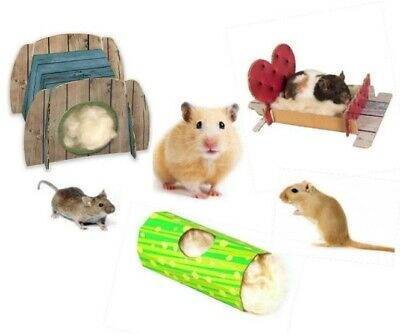 100% Natural Kapok Wool with Build a Bed, a Nest or a Hut Hamster Gerbil Mouse