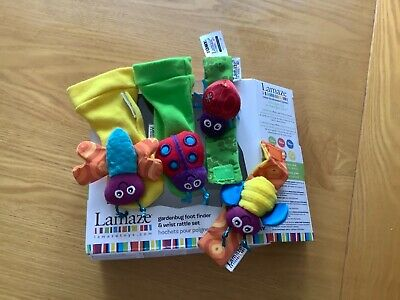Lamaze Gardenbug Foot Finder and Wrist Rattle Set - baby toy 0+ in box