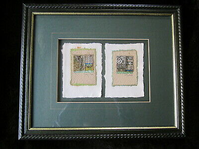 Original PENNY BLACK Listed Mixed Media Collage Picture Signed Framed