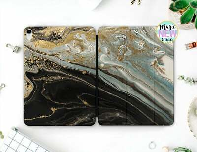 Gold Marble Folding Folio Cover For Apple iPad Pro 11 Pro 12 2018 Smart Cover
