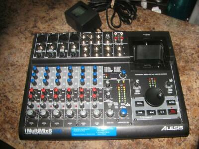 Alesis iMultiMix 8 - 8-Channel USB Mixer w/ iPod Recorder & Power Adapter