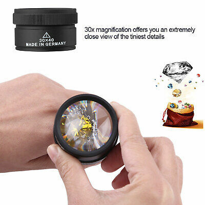 40x Magnifying Glass Eye Loupe Loop Optical Magnifier Jewelry Watch Repair Tool