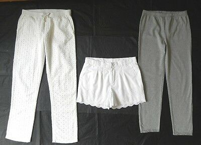 GAP Girls White Brodeire Trousers, Shorts & Leggings 12 Years NEW Bundle