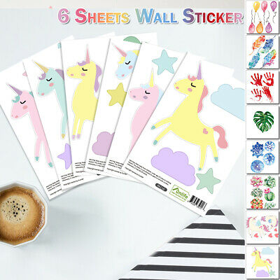 Watercolour 3D Wall Sticker Non-setting Vinyl Sticker Window Kid Room Decoration