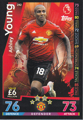 TOPPS MATCH ATTAX 2018-19 - Ashley Young - Manchester United - # 242