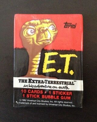 1982 Topps E.T (The Extra Terrestrial) - Wax Pack (Bazooka Bubble Gum Variation)