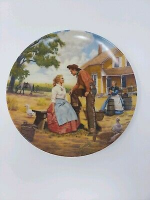 "The Edwin M Knowles China Co. ""Oh, What a Beautiful Mornin'"" Plate"
