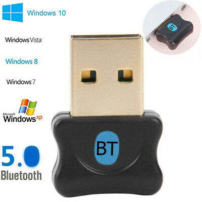 Wireless USB Bluetooth5.0 Adapter Dongle Audio Receiver For Win 7 8 10 XP/Vista#