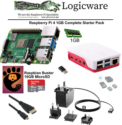 Raspberry Pi 4 Model B 1GB Starter Pack | Great Set Of Accessories As Pictured