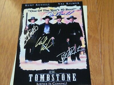 Tombstone Cast Photo Autographed Hand Signed 8.5x11 Paxton Kurt Russell