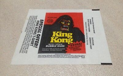 1976 Scanlens King Kong Trading Cards - Wax Pack Wrapper