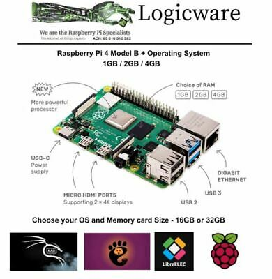 Raspberry Pi 4 1GB, 2GB or 4GB + Software Pack