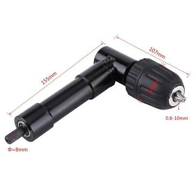 Right Angle 90° Drill Attachment Chuck Adapter Electric Extension Tool 8mm Shaft