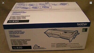 Genuine Brother TN-850 OEM Black High-Yield Toner Cartridge - New in Box