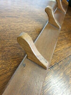 antique wood 5 peg COAT HOOK