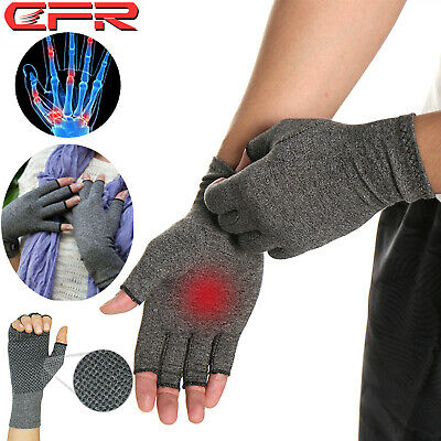 Arthritis Gloves Compression Joint Finger Pain Relief Hand Wrist Support Brace X