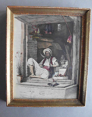 Antique Original Colored - Oriental Gravure by De GHOUY - 1840