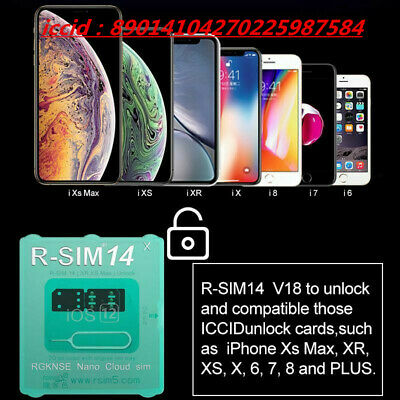 RSIM 12+V16 14 V18 R-SIM Nano Unlock Card For iPhone XS/X/6/7/8 4G iOS 12.2 Lot