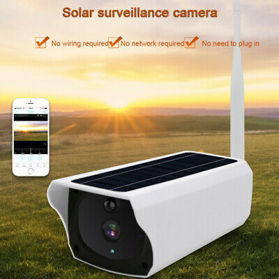 Wireless WiFi IP Security Camera 1080p Rechargeable Battery Solar Powered Panel