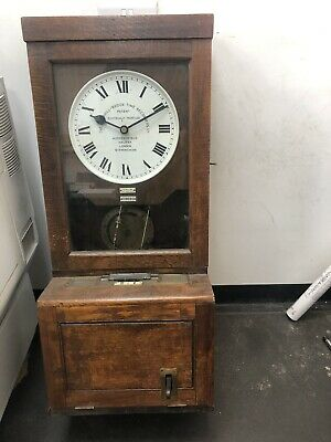 Gledhill Brook Electrical Clocking In Machine Oak Cased Time Recorder