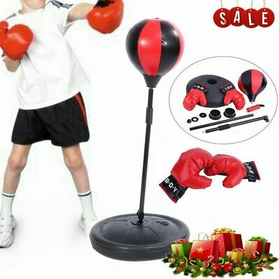 Punching Ball Set Gants de boxe de poinçonnage Pompe à air Punching Bag Kids RA