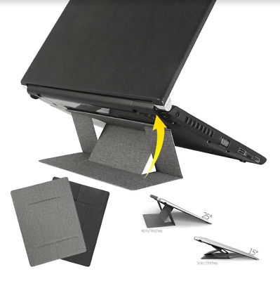 Portable Invisible Laptop Stand Holder Thin Folding Mount Adjustable Universal