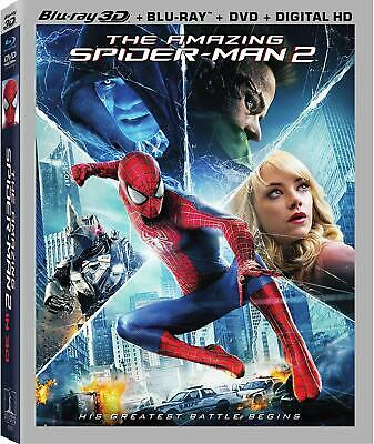 The Amazing Spiderman 2 Blu Ray 3D DVD Format Ultraviolet Box Set Widescreen New