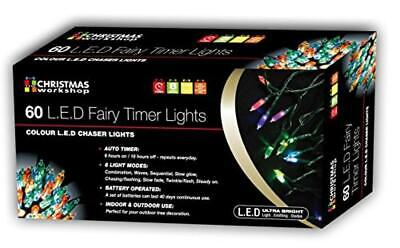 Christmas Workshop luci LED a Batteria Net con Timer - NUOVO