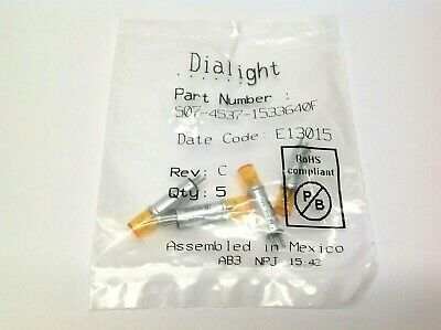 Dialight 507-4537-1533640F LED Panel Neon Indicator Pack of 4