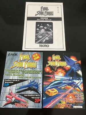 TECMO Final Star Force - Artset flyer manual arcade no game pcb board Cave