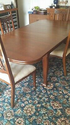 Antique Edwardian Extending Dining Table And Six Matching Chairs