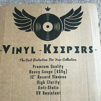 "50 x 12"" Inch LP Album Vinyl Keepers Polythene Record Sleeves Heavy Gauge 450g"