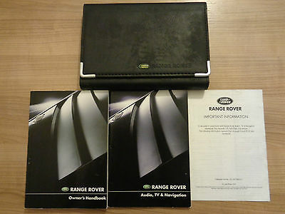 Range Rover Owners Handbook/Manual and Wallet 02-04