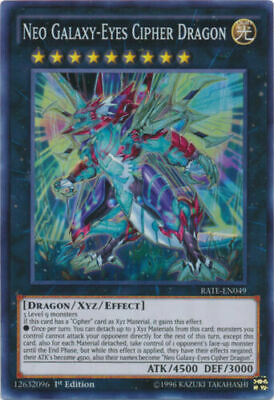 Neo Galaxy-Eyes Cipher Dragon RATE-EN049 1st Edition Super Rare NM