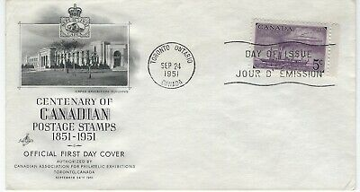 CANADA - #312 - 5c STEAMSHIPS ART CRAFT FIRST DAY COVER FDC STAMP CENTENARY