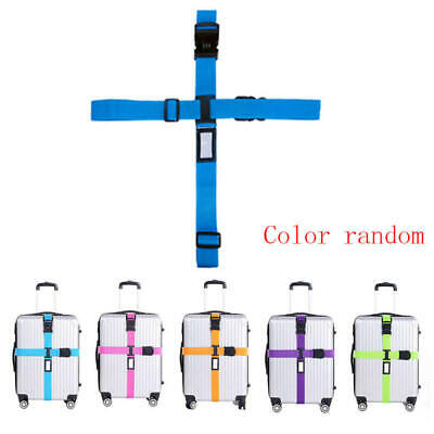 Travel Luggage Suitcase Cross Strap Baggage Bag Backpack Belt Coded Lock