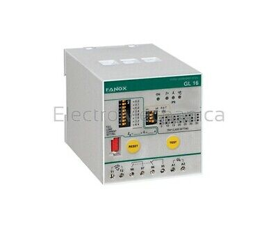 FANOX GL16 220/240V 50/60Hz ELECTRONIC MOTOR PROTECTION RELAY