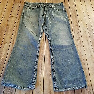 NEW Silver Jeans Men/'s GRAYSON EASY FIT Straight Leg  Mid Rise 81102A
