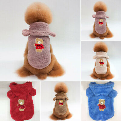 Pet Dog Clothes Shirt Coat Jacket Hoodie Spring Soft Comfy Warm Sweater Apparel