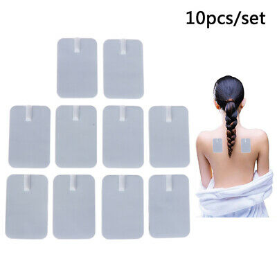 10Pcs 6*9cm Reusable Tens Machine Electrode Pads Body^ Massager Selfadhesive Pad