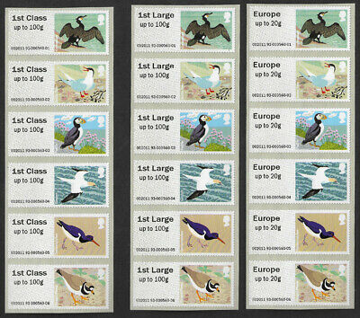 GB 2011 Birds of Britain IV Post and Go u/m mnh stamps x 36 ex. Autumn Stampex