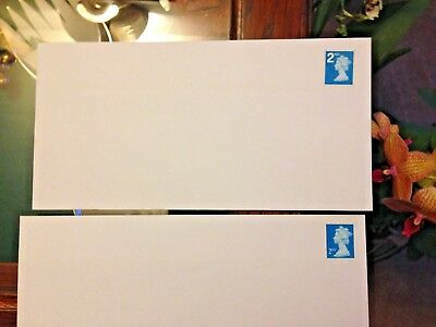 Save Time And Money.100 Blue Pre Stamped Envelopes. Second Class Stamps Attached