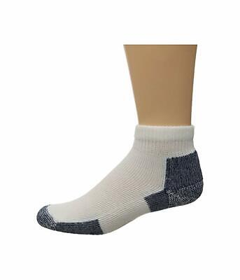 Thorlos Unisex White Running Mini Crew Quarter Length Socks 4906 Size XL