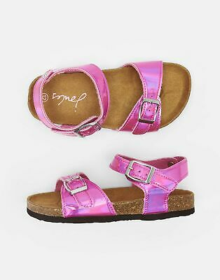 Joules 204698 Printed Sandals Jnr10 in BRIGHT METALLIC PINK Size Childrens 10