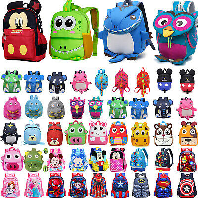 Toddler Kids Boys Girls Cartoon Backpack Children Shoulder School Bag Rucksack