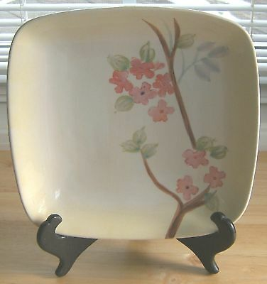 222 Fifth PTS Calming Plate Square Salad Dessert Dish Floral Discontinued 16250