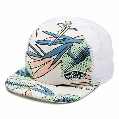 Vans Off The Wall Beach Bound Girl Skateboard Trucker Hat NWT One Size Tropical
